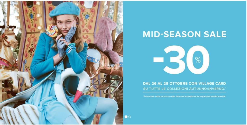 91b0e3d3eb2 E  già tempo di sconti grazie al Mid-Season Sale del Puglia Outlet Village.  Ma solo dal 26 al 28 Ottobre mostrando semplicemente la Village Card.
