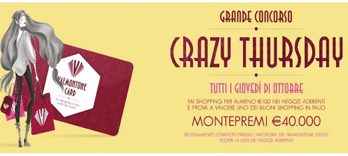 Crazy Thursday Valmontone Outlet Village Roma