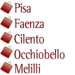 Pisa, Faenza, Cilento, Occhiobello, Melilli